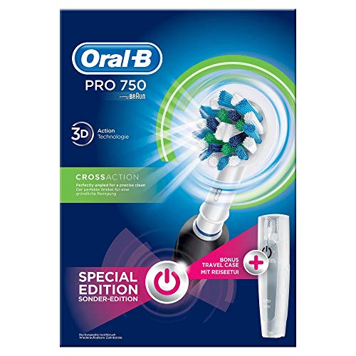Oral-B Pro 750 CrossAction Elektrische Zahnbürste mit Reiseetui - 4