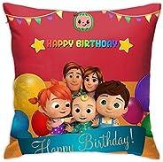 UJM Pillowcase Kid's Sofa Throw Pillow Cocomelon Birthday Cushion Home Living Soft Square Cover Decorative