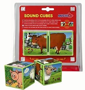 Micki 10.2070.00  - Cubos de animales con sonido Importado de Alemania