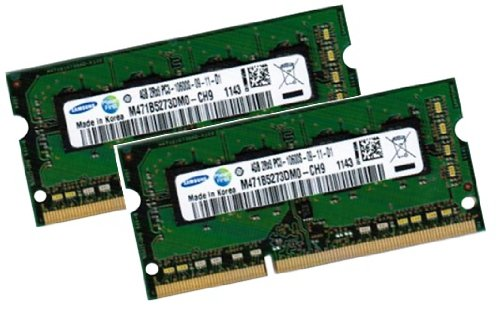 Cl9 Dual Channel (Samsung 8GB Dual Channel Kit 2 x 4 GB 204 pin DDR3-1333 SO-DIMM (1333Mhz, PC3-10600S, CL9))