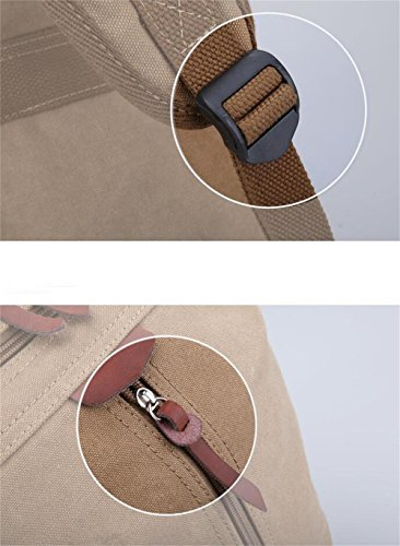 Global-Herren sportlich Leinwand Umhängetasche Rucksackschultaschenmann- große Kapazität Tasche Laptop-Tasche Khaki