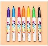 Aoweite 7 Textilmarker Textil Maler Stoffmalstifte,Ungiftig, Schnell Trocknend für Gemälde auf Stoff, Keramik, Ton