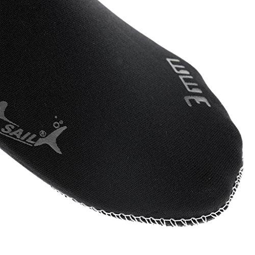 MagiDeal Adulti 3mm Calze Stivali in Neoprene per Subacquea Immersione Surf Lo Snorkeling Nuoto Nero