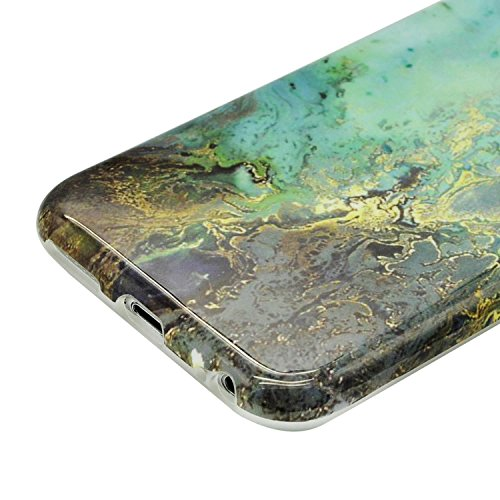 iPhone 8 Plus Hülle, iPhone 8 Plus Marmor Handyhülle, iPhone 8 Plus Marble Hülle, Sunroyal Marmor Serie Flexible TPU Silikon Schutz Handy Hülle Handytasche HandyHülle Schale Case Cover Schutzhülle für Farbe 64