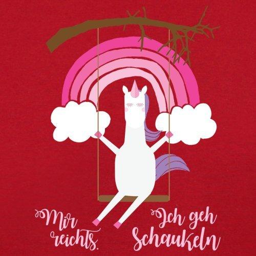 Mir reichts. Ich geh Schaukeln - Einhorn - Damen T-Shirt - 14 Farben Rot
