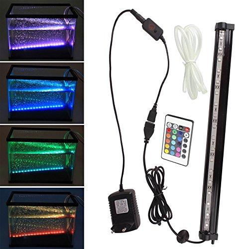SPEED Aquarium LED Bubble Beleuchtung Hochwasserblase Lichtleiste 60CM
