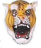 Ciao 30167–Máscara tigre de látex, Naranja/Blanco/Negro