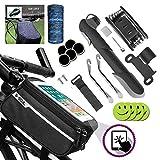 Sacoche Cadre de vélo,Support smartphone pour Ecran Tactile ,Trousse d'outils de Vélo,Mini Pompe...