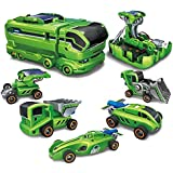 V SHINE 7-in-1 Do it Yourself Concept Solar Robotics Energy Kit Car Series for Boys and Girls by Brands (Green)