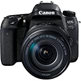 Canon EOS 77D + EF-S 18-135mm 1:3,5-5,6 IS USM SLR-Digitalkamera (24,2 MP, 7,7 cm (3 Zoll) Display, APS-C CMOS Sensor, Full HD) schwarz
