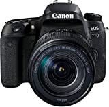 Canon EOS 77D SLR-Digitalkamera (24,2 Megapixel, 7,7 cm (3 Zoll) Display, APS-C CMOS Sensor, Full HD) kit inkl. EF-S 18-135mm 1