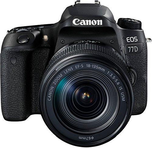 Canon SLR EOS 77D Fotocamera Digitale, Obiettivo EF-S 18-135 mm IS USM,...