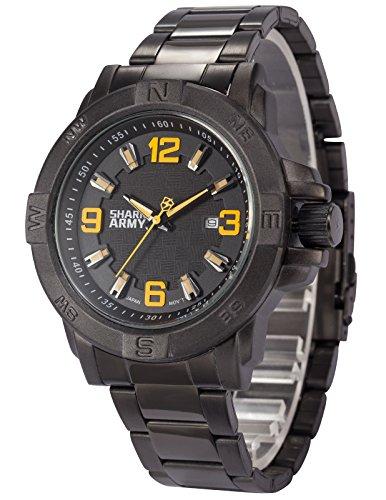 SHARK ARMY Herren Armbanduhr Quarzwerk Analog Datumanzeige Sportuhr SAW148