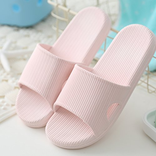 DogHaccd pantofole,I bagni sono freschi in estate donna sandali ciabattine stare a casa durante il periodo estivo e la vasca da bagno le coppie maschio piscina incantevole e raffreddare le pantofole Rosa chiaro4