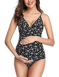 6657e74c6 Traje de baño Mujer Maternidad Premamá Deportes Tankini de Dos Piezas  Imprimiendo