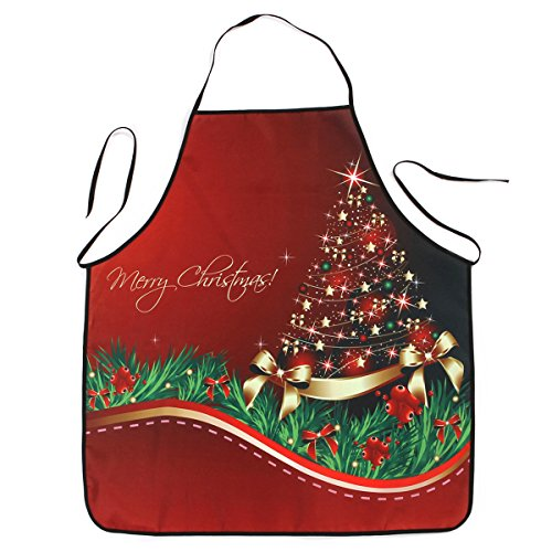 OULII Delantal Navidad Impermeable Delantal Cocina