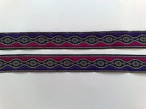 2 m Borte Indien Trachten Sari Landhaus Dirndl Wiesn 25 mm breit Farbe: (Indien Tracht)