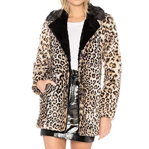 ädchen Große Größe Mode Leopard Langarm Bluse Lose Streetwear Sweatshirts Tuniken Familie Barbecue Oktoberfest Kostüm Herbst Winter Oberteil Tunika Darringls webpelzmantel ()