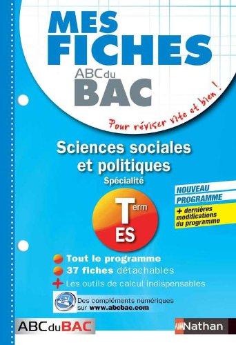 Mes fiches ABC du BAC Sciences sociales et politiques Term ES par Me Delphine De CHOULY, Fabienne Lepage