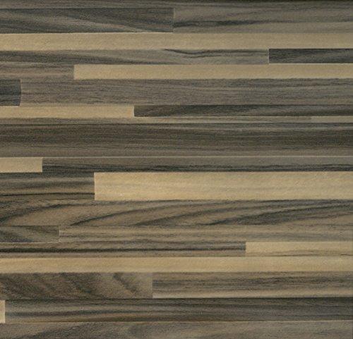 Klebefolie Dekofolie Möbelfolie Tapeten selbstklebende Folie, PVC, keine Luftblasen, Natur-Holzoptik PARKETT BRAUN, 45cmx2m, Venilia 53333
