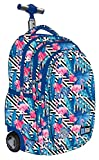 St.Right Super Zaino Trolley Scuola Flamingo Pink & Blue per FEMMINA Ragazza