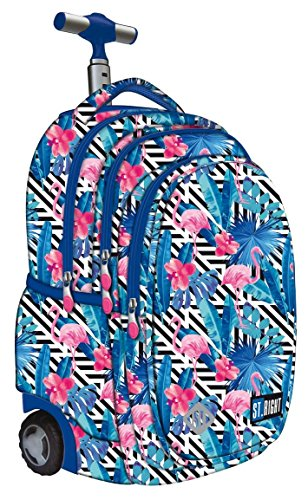 15739343cc St.Right Super Zaino Trolley Scuola Flamingo Pink & Blue per FEMMINA Ragazza