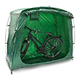 Relaxdays Bicycle Cover Bike Garage Shelter Tent 156.5 x 84.5 x 181.5 cm with Transport Bag & Securing Pegs, Bike Garage for Camping or Trips or the Garden, Green