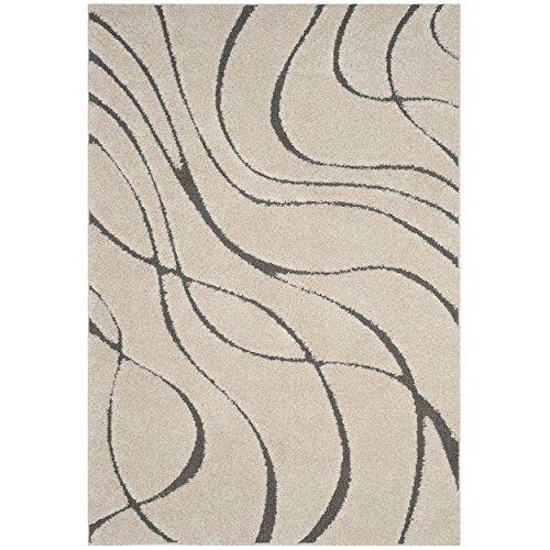 Safavieh Shag Collection sg471–1180creme und grau Bereich Teppich, 3'7,6cm X 5' 7,6cm