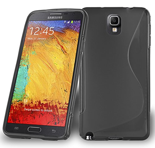Preisvergleich Produktbild Cadorabo DE-105298 Samsung Galaxy Note 3 Handyhülle aus flexiblem TPU Silikon im S-Line Design Schwarz