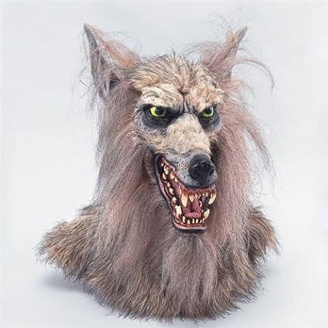 Luxus Kino Maske und Deko Hammer Werwolf Filmstudio Qualität Vollmond Monster Schocker sagenhafte Halloween Horror Vollmaske im atemberaubenden Design perfekt auch als Dekoschocker