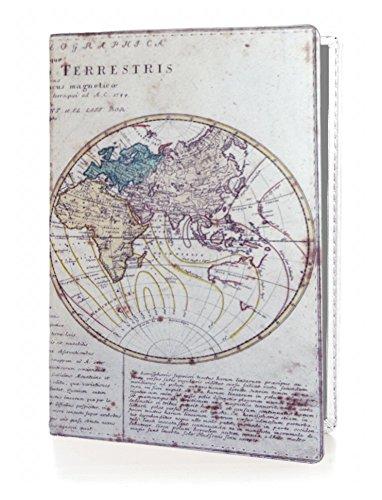OPTEXX® RFID Reisepass-Hülle TÜV geprüft & zerifiziert   Alte Weltkarte   Ausweis-hülle   Schutzhülle   Schutz-Etui   Pass-hülle   aus Vegi Leder sicheres Blocking Passport