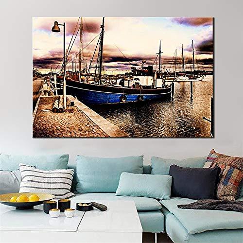 RTCKF Poster di Paesaggio e Stampa su Tela Wall Art Pittura Astratta Classica Immagine per Soggiorno Decorazione della Parete di casa (Senza Cornice) A6 60x90cm