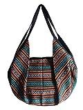 Kombi Rucksack / Umhängetasche Baumwolle, handgewebt - verschiedene Farben