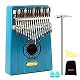 QStyle Kalimba 17 Key Thumb Piano Include Tuning kit Hammer and Study Instruction