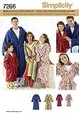 Simplicity Schnittmuster 7266 A Kinder,Herren & Damen Bademantel Gr. XS/L - XS/XL