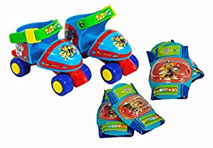 PAW PATROL - Caja con Roller 4 Ruedas, Talla 24-29 y Protecciones (Saica Toys 7474)