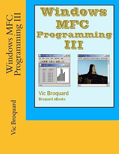Preisvergleich Produktbild Windows MFC Programming III