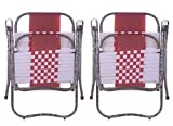 #10: Folding Chair Easy to carrier for outdoor Use White/Maroon Set of 2