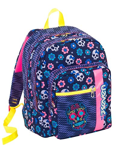 c55f337d17 Seven S.P.A. Outsize School Backpack SEVEN – Mexi Girl – Blue and Pink – 33  lt