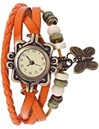 Creta Orange Dory Look Watch With Attractive Butterfly Watch Fancy Look