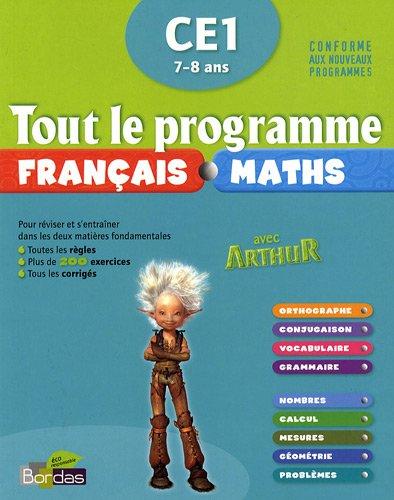 Tout le programme français-maths CE1 7-8 ans avec Arthur