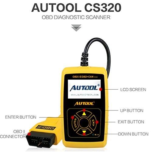 Lector de averías Autool CS320 protocolo OBD2