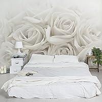 Fotomurale Premium - White Roses - Carta da Parati Largo