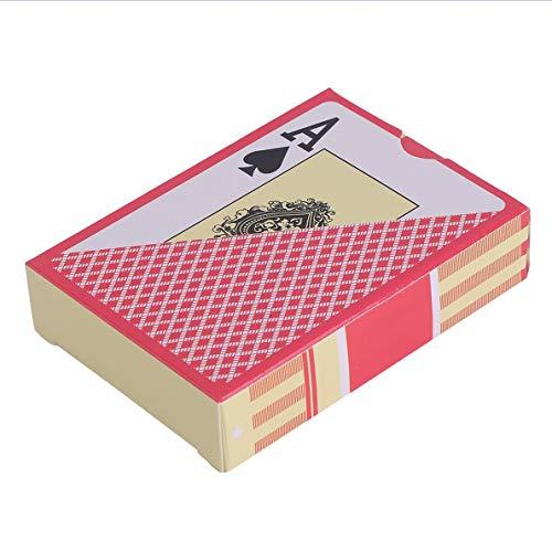 Kaitoshiratori PVC imperméable Durable Scrub Type de Cartes à Jouer en Plastique Carte Nouveauté Poker Pokerstar Jeu de société pour Le Texas Jeu