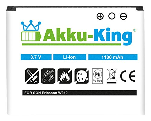 Akku-King Akku für Sony-Ericsson W700c, W600c, W550c, W800c, W910i, K220c, Z710c - ersetzt BST-39 - Li-Ion