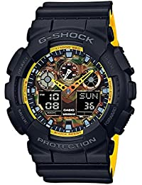 Casio Men's G-Shock GA100BY-1A Black Resin Japanese Quartz Diving Watch