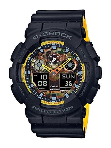 Casio Men's G-Shock GA100BY-1A Black Resin Japanese Quartz Diving Watch