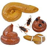 STOBOK Juguete Broma Diseño de Mierda con Moscas Cucarachas y Gusanos Realista para Adultos y Niños