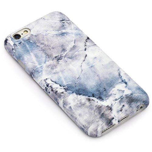 5.5 iPhone 6 Plus 6S Plus SGSELLER TPU Slim Fit Ultra Dünn Stoßfest Anti-Kratz Anti-Fingerabdruck Matt Schutzhülle Gehäuse, Plastik, Marmor (Holz) Marmor (Denim)