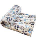 WeiMay Cuscino per cani Pet accogliente caldo - Tappeto morbido in pile con animali domestici Coperta stampata per cani Animali di gatti, 100x80cm (Coffee)